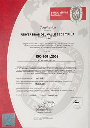 universidad del valle sede tulu recibi certificaci n de calidad. Black Bedroom Furniture Sets. Home Design Ideas